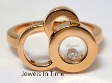 Chopard Happy Bubbles 18k Rose Gold & Diamond 7.25 Ring 826982.5001