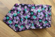 KR1217 Atwardson Krawatte 100% Seide Schwarz Weiß Lila Grün Pink geblühmt 140,5