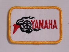 YAMAHA MOTORCYLES EMBROIDERED PATCH 78x54mm WOVEN CLOTH BADGE SEW-ON RACING NOS