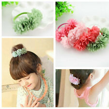 4PCS Kids Girl Baby Hair Ring Rope Ponytail Holder Elastic Colorful Bands clips