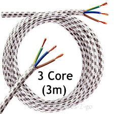 3 METRE Steam Dry IRON CABLE Mains 3 Core Flex Cord Long Plug Lead 3m