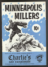 1953 MINNEAPOLIS MILLERS CHARLESTON CHARLIES SCOREBOOK RARE