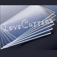 """5mm 1/5"""" Clear Acrylic Plexiglass Perspex 148mm x 210mm Sheet A5 Size 6"""" x 8"""""""