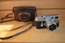 Leica Model M3 DBP ERNST LEITZ camera with Summarit F= 5cm 1:1.5 lens FREE SHIP!