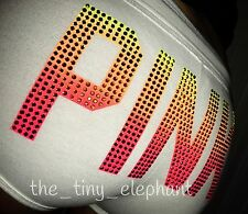 Victoria Secret Pink White Ombre Bling Graphic Booty Logo Sweat Shorts XS S VS