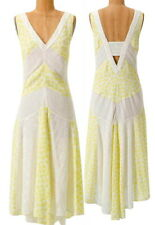 $228 Anthropologie Sunny Sun Dress 2 XSmall Small Yelow White LiefNotes Feminine