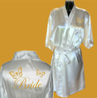 Personalised Wedding Robe / Dressing Gown Adult & Children's sizes - Butterfly