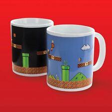 Oficial Super Mario Bros. cambio De Calor Taza noche a día Mario nivel Tea Taza