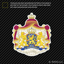 Dutch Coat of Arms Sticker Decal Self Adhesive Vinyl Netherlands flag NLD NL
