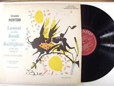 germaine montero lp lament on the death of a bullfighter  vrs 9055   vg+/m-