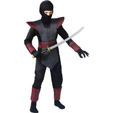 New! Red NINJA FIGHTER Boys Fun World Complete Costume Birthday Party S 6