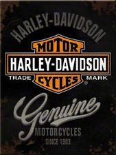 Harley Davidson Genuine Magnet  6x8 cm 14225 Kühlschrankmagnet Schild Sign