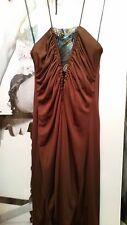 "CHOCOLATE PARTY MINI FLARED STRETCH DRESS ""RICHMOND""WITH Swarovski Crystals EU42"