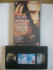 INTERVIEW WITH THE VAMPIRE VHS VIDEO. Tom Cruise, Brad Pitt. EAN: 5014780131767.