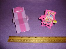 BARBIE KELLY FURNITURE LOUNGE CHAIR AND CHAIR LOT doll mattel