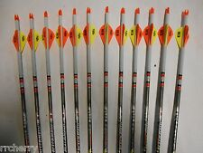 12-- Easton Aftermath 400 Carbon Arrows! Custom Dip/Blazer Vanes!CUT TO LENGTH!