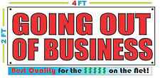 2x4 GOING OUT OF BUSINESS Banner Sign NEW Discount Size