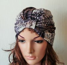 Full Turban Hat , Animal Print Turban Hat, Viscose Jersey Turban for Women