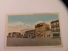 VINTAGE CURT TEICH LINEN MOREHEAD NC POSTCARD Arendell St.Roses old cars
