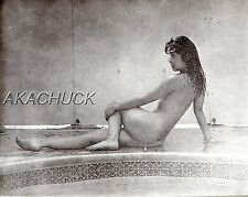Nude Poses Wet By Poolside B & W HENDRICKSON PHOTO Original Artist Studio D358