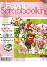 ESPRIT SCRAPBOOKING N°15 RELIURES ORIGINALES / FLOWER SOFT / REALISEZ COCARDES