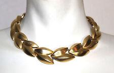Givenchy gold tone leaf design necklace and bracelet set  vintage signed