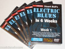 6 DVD SET LICK LIBRARY STUART BULLS ELECTRIC BLUES Guitar In Weeks 1 2 3 4 5 DVD