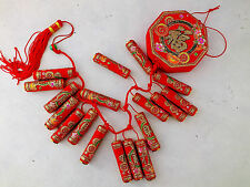 XL CHINESE RED FIRE CRACKERS HANGING WEDDING NEW YEAR XMAS PARTY DECO ONLY A11
