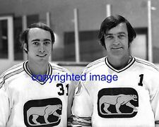 Chicago Cougars Hockey Keith La Lievre - Jimmy McLeod 1972-73 Goalies  B+W 8X10