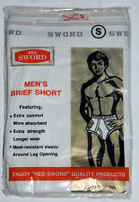 VINTAGE RED SWORD MENS BRIEF SHORT SIZE: SMALL