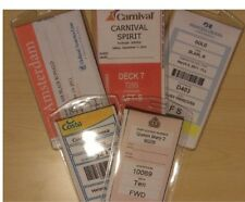 4 Cruise Luggage Tag Holders Carnival, Princess, Holland America, Norwegian RCCL