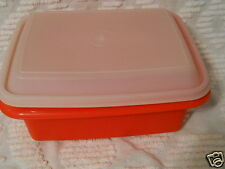 VTG TUPPERWARE PAPRIKA RED ICE CREAM FREEZE-N-SAVE KEEPER #1254