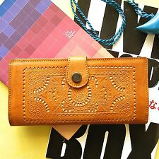 Vintage Genuine Leather Slim Wallet Purse Womens Ladies Coin Cards Holder Zipper