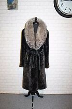 real Silver fox FUR COAT lamb FUR COAT fur jacket shearling mouton mink Raccoon