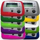 CW Multifunction Pedometer, Steps Distance and Calories - Assorted Colors