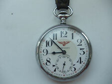 Antique Tavannes watch co open face Stainless Steel Pocket Watch