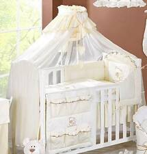 LUXURY BABY CANOPY / DRAPE 480cm WIDTH + HOLDER Fit COT /COT BED - Cream