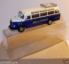 PRALINE MB MERCEDES O 3500 HO 1/87 CAR BUS AUTOCAR VOYAGES CARS LE FRANCOIS BOX