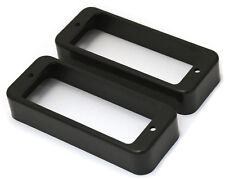 BLACK MINI HUMBUCKING PICKUP RINGS FOR GIBSON LES PAUL DELUXE GUITAR *NEW*