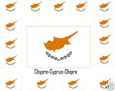 Assortiment lot de10 autocollants Vinyle stickers drapeau  Chypre-Cyprus-Chipre