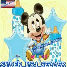 MICKEY MOUSE BABY SHOWER PARTY BALLOONS BOUQUET BABY PARTY SUPPLIES DECORATIONS
