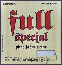 Poland Brewery Lwówek Full Specjal Beer Label Bieretikett Cerveza ls102.1
