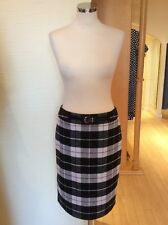 Gerry Weber Skirt Size 10 BNWT Black Winter White Brown Check RRP £95 Now £43