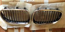 COPPIA GRIGLIE ANTERIORI CROMATE DESTRA E SINISTRA  BMW S.5 E60 DAL 2003
