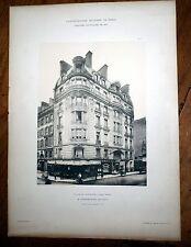 grande planche héliogravure concours de façades 1901 Architecture Paris G. Rives