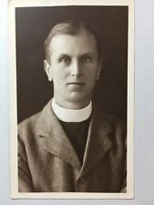 Vintage Real Photograph - #M - Mounted Picture Clergyman / Minister - c1915