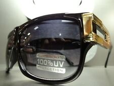 New CLASSIC RETRO 80's VINTAGE STYLE Party SUN GLASSES SHADES Black & Gold Frame