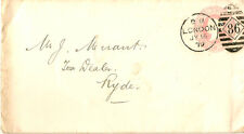 LONDON : 1879 86  numeral cancel on postal stationery  envelope