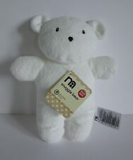 Mothercare white flat 2D teddy comforter toy BNWT * NEW * next day post