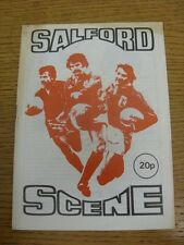21/03/1980 Rugby League Programme: Salford v York  (Foxing). Condition: We aspir